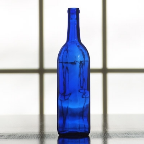 Picture of 750 ml Cobalt Blue Bordeaux Bottle, Case of 12