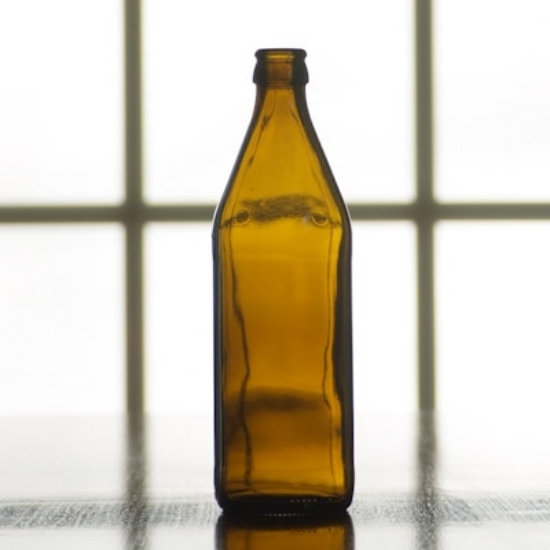 Picture of 16 oz Amber Belgian Beer Bottle, crown finish,  case of 12