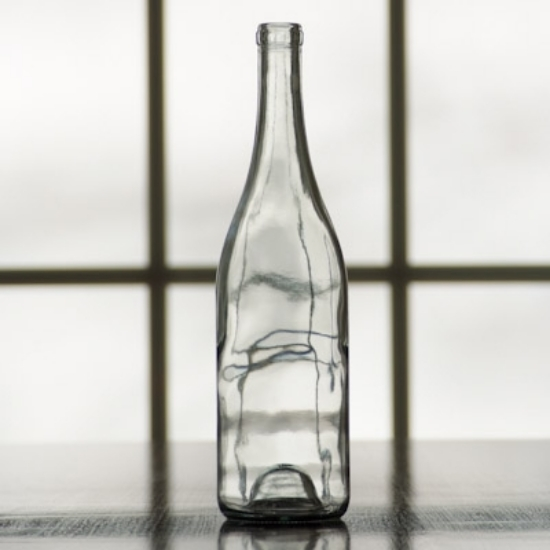 Picture of 750 ml Clear Burgundy Bottle, Case of 12