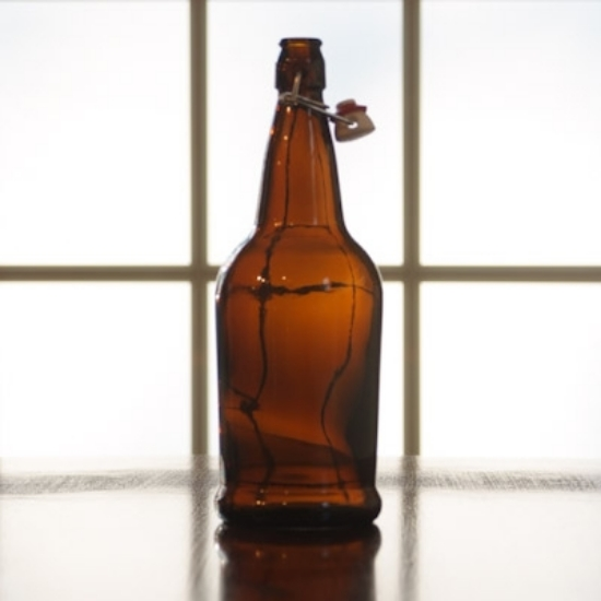 Picture of EZ Cap 1 liter Amber Flipper, Case of 12