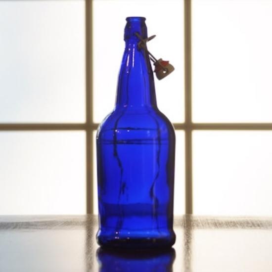 Picture of EZ Cap 1 liter Blue Flipper, Case of 12