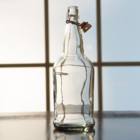 Picture of EZ Cap 1 liter Clear Flipper, Case of 12