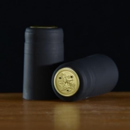 Picture of Black Matte PVC Capsules 100 count