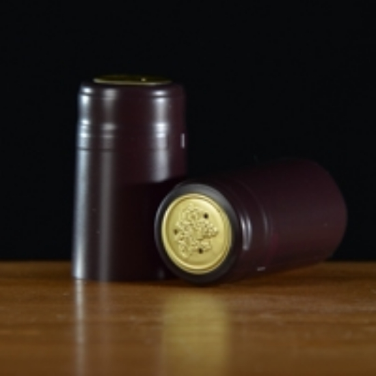Picture of Burgundy Matte PVC Capsules 100 count