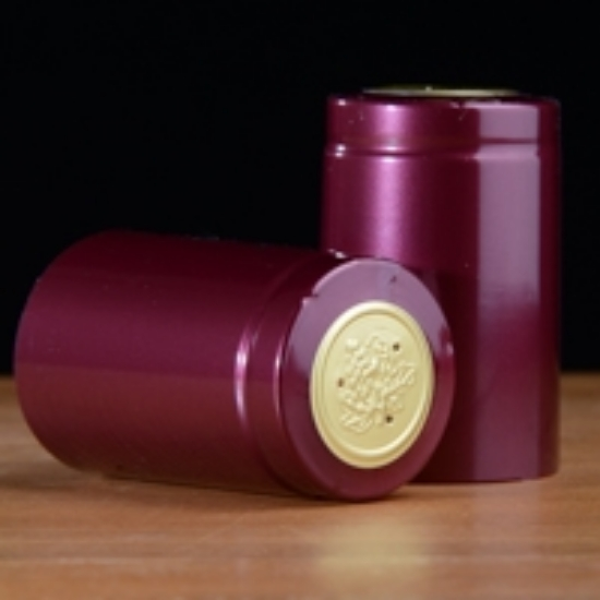 Picture of Burgundy Shiny PVC Capsules 100 count