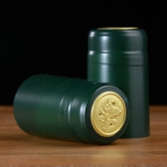 Picture of Green Matte PVC Capsules 100 count