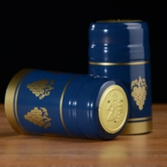 Picture of Blue with Gold Grapes PVC Capsules 100 count