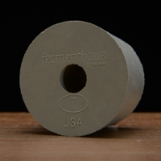 Picture of Drilled Rubber Stopper #7