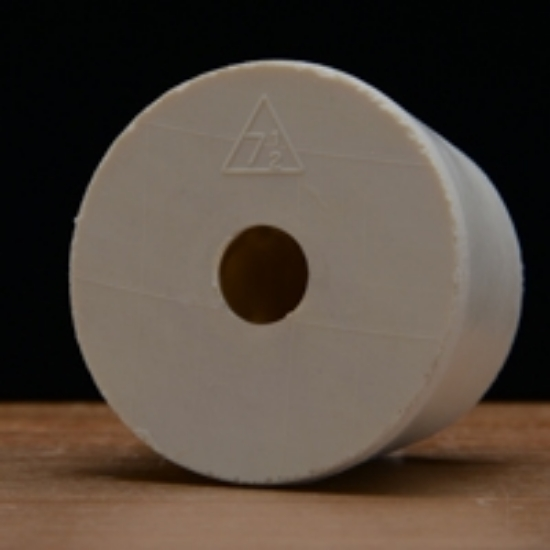 Picture of Drilled Rubber Stopper #7 ½