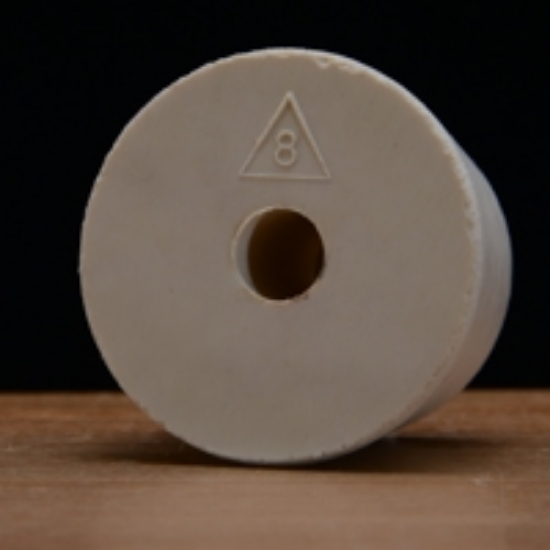 Picture of Drilled Rubber Stopper #8