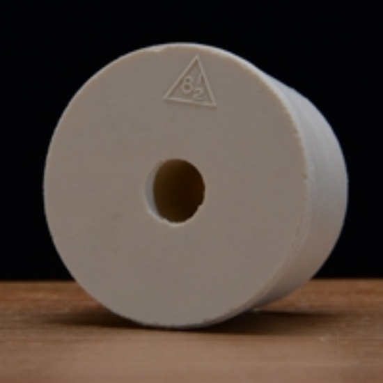 Picture of Drilled Rubber Stopper #8 ½