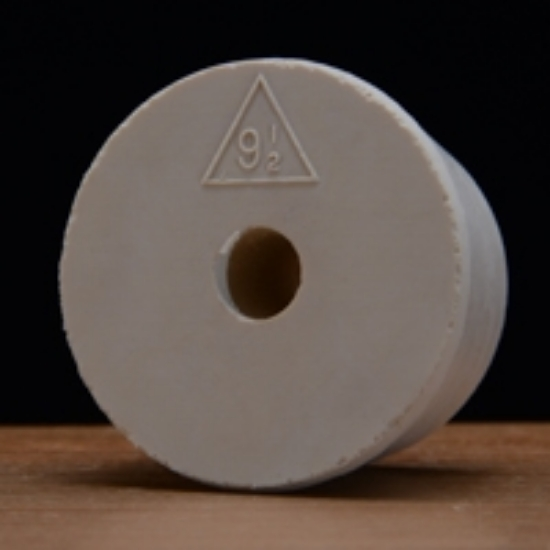 Picture of Drilled Rubber Stopper #9 ½