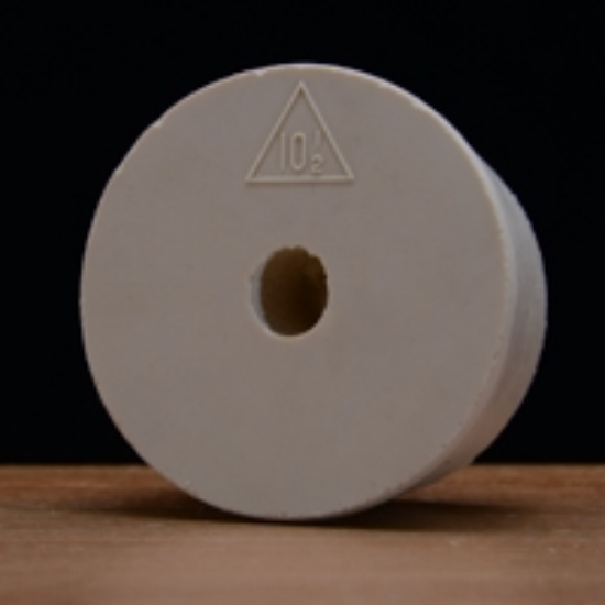 Picture of Drilled Rubber Stopper #10 ½