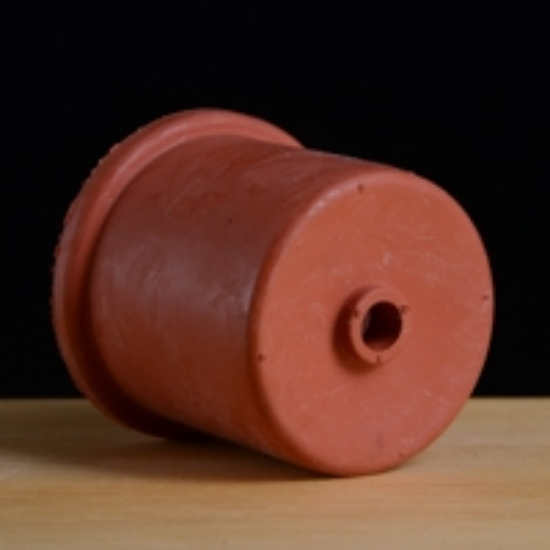 Picture of Red Rubber 50 mm Single Hole Carboy Cap