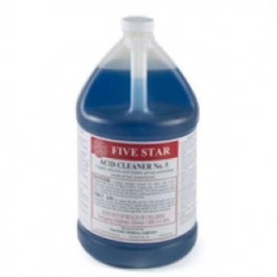 Picture of Five Star Acid Cleaner #5, 1 gal, Case of 4