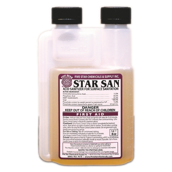 Picture of Five Star Star San 8 oz, Case of 12