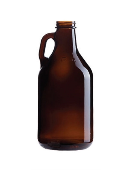 Picture of 32 oz Amber Growler 38mm Finish 12/case